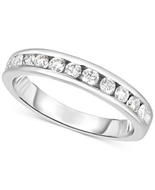 Diamond Channel Set Band (3/8 ct. t.w.) in 14k White Gold