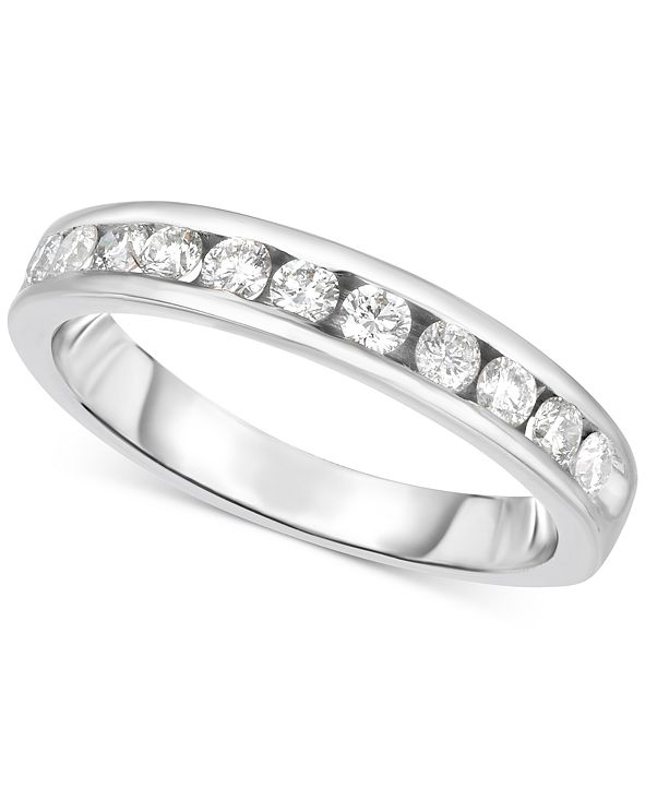 Hearts.Arrows.Together Diamond Channel Set Band (3/8 ct. t.w.) in 14k White Gold