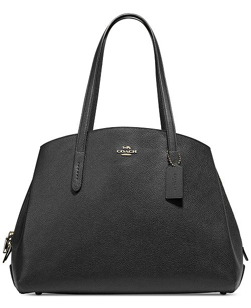 COACH Charlie 40 Satchel in Polished Pebble Leather