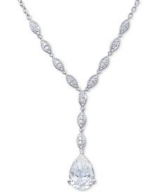 """Arabella Swarovski Zirconia 18"""" Lariat Necklace in Sterling Silver"""
