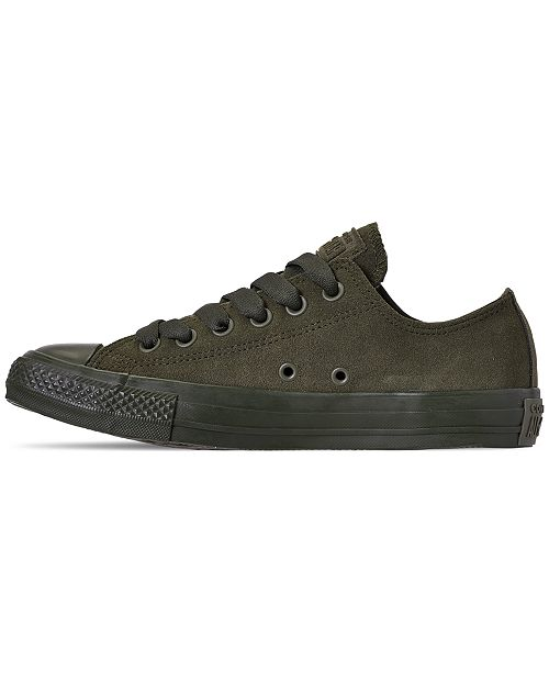 ... Converse Unisex Chuck Taylor All Star Suede Mono Color Low Top Casual  Sneakers from Finish Line ... 26624c842