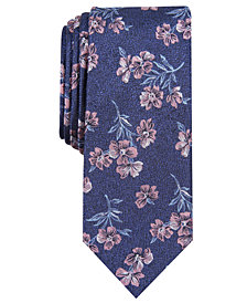 Bar III Men's Bolton Floral Skinny Tie, Created for Macy's