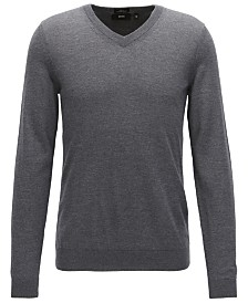 BOSS Men's V-Neck Virgin Wool Sweater