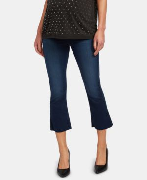 Image of A Pea in the Pod Maternity Cropped Jeans