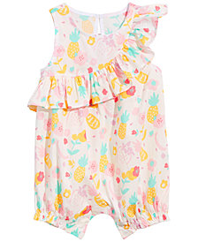 First Impressions Baby Girls Tropical Fruit-Print Cotton Sunsuit, Created for Macy's