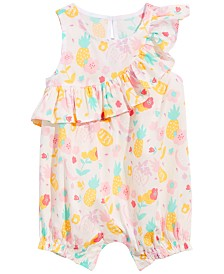 First Impressions Baby Girls Tropical Fruit-Print Cotton Romper, Created for Macy's