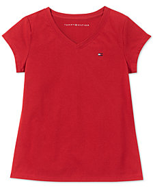 Tommy Hilfiger Big Girls V-Neck T-Shirt