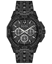 Men's Phantom Black Stainless Steel & Crystal-Accent Bracelet Watch 41.5mm