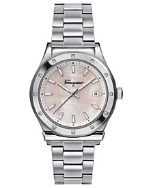 Ferragamo Women's Swiss 1898 Stainless Steel Bracelet Watch 40mm