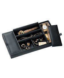 Royce New York Suede Lined Dresser Valet Tray
