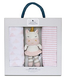 Lolli Living Baby Bento Gift Set - Knitted Plush Toy + Knitted Blanket