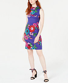 Trina by Trina Turk Floral-Print Sheath Dress