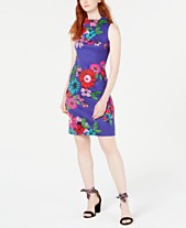 2487fe3a39f Trina Trina Turk Floral-Print Sheath Dress