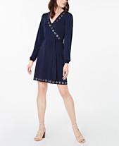 44657a9a5f7c MICHAEL Michael Kors Grommet-Detail Wrap Dress, In Regular & Petite Sizes