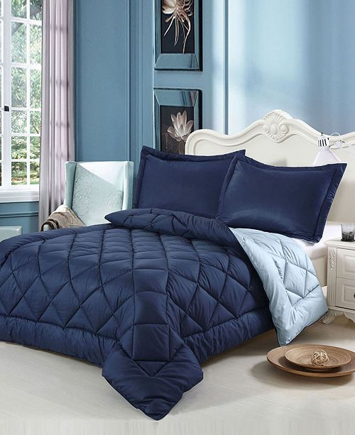Swiss Comforts Down Alternative Reversible Twin Comforter Set