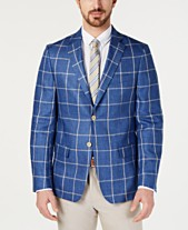 7197649b4fc Lauren Ralph Lauren Men s UltraFlex Classic-Fit Windowpane Linen Sport Coat