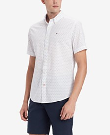 Tommy Hilfiger Men's Custom-Fit Geo-Print Shirt, Created for Macy's