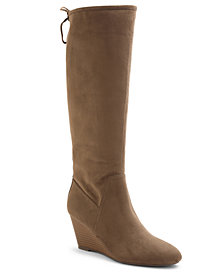 XOXO Burkey Wedge Tall Boots