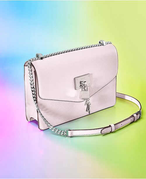 c6b31c4d2 DKNY Elissa Leather Chain Strap Shoulder Bag, Created for Macy's ...
