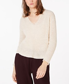 Eileen Fisher Organic Cotton Pointelle Sweater, Regular & Petite