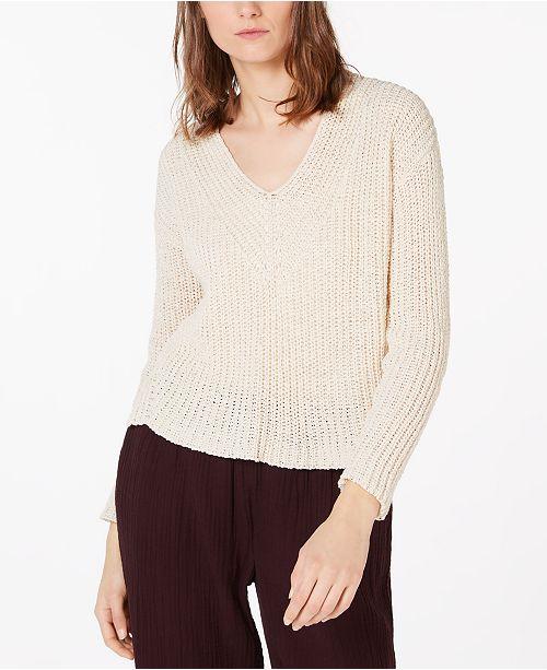 Eileen Fisher Organic Cotton Pointelle Sweater, Regular & Petite