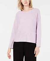 e4e851485daf Eileen Fisher Organic Linen Patch-Pocket Sweater, Regular & Petite