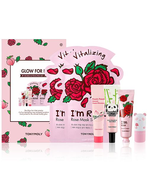 TONYMOLY 6-Pc. Glow For It Roses & Peaches Set