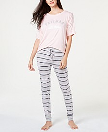 by Jennifer Moore Core Short-Sleeve Top & Pajama Pants Sleep Separates, Created for Macy's