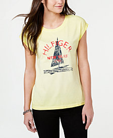Tommy Hilfiger Sailboat Print Logo T-Shirt, Created for Macy's