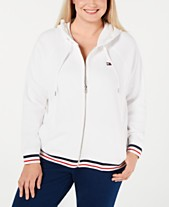 3c1925539434e Tommy Hilfiger Sport Plus Size Fleece Long-Sleeve Zip-Up Hoodie
