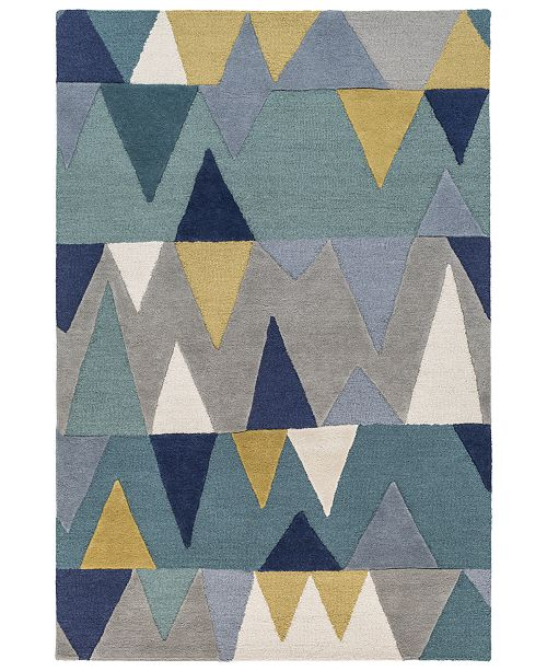Surya Kennedy KDY-3012 Bright Blue 4' x 6' Area Rug