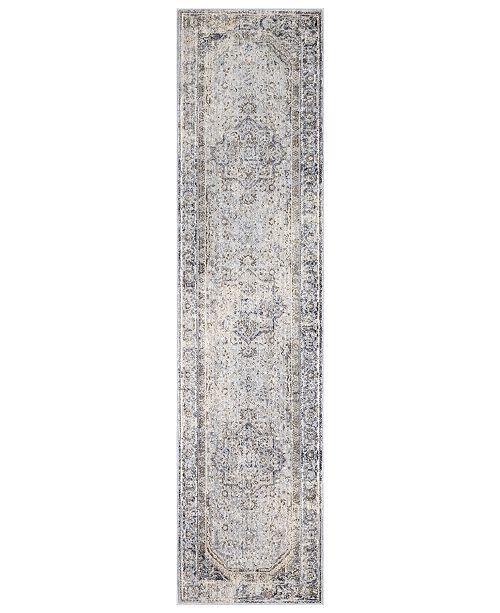"Surya Liverpool LVP-2302 Charcoal 2'7"" x 10'3"" Runner Area Rug"
