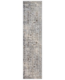 "Liverpool LVP-2304 Charcoal 2'7"" x 10'3"" Runner Area Rug"