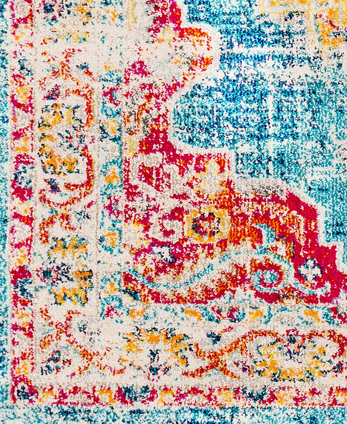 """Abbie & Allie Rugs - Morocco MRC-2303 Teal 18"""" Square Swatch"""