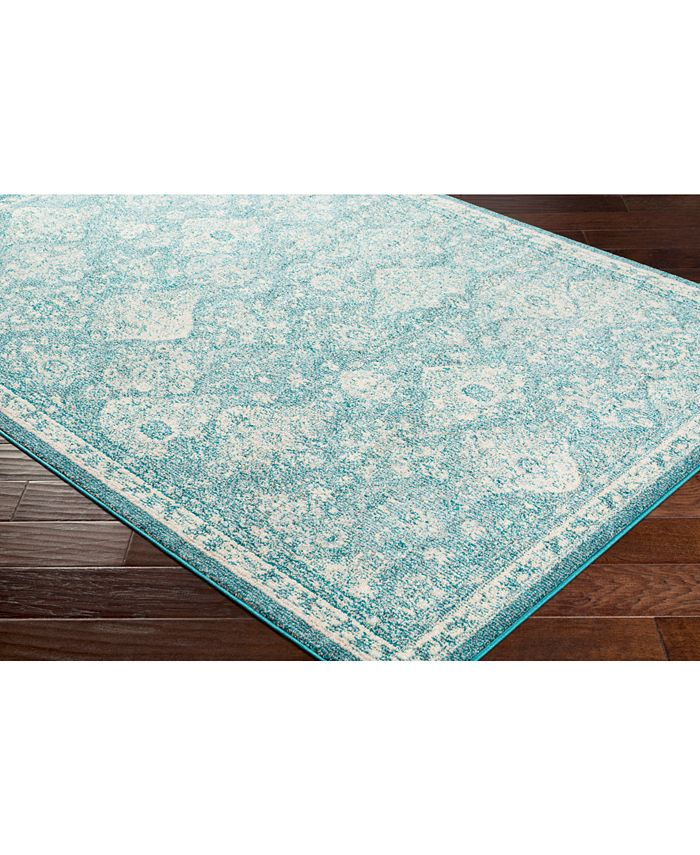 """Abbie & Allie Rugs - Morocco MRC-2316 Teal 18"""" Square Swatch"""