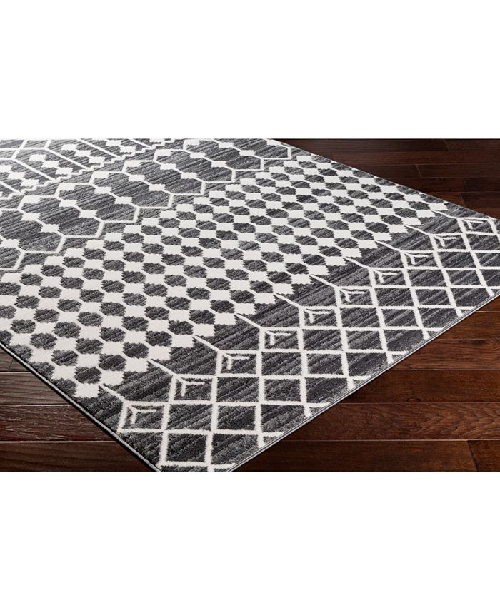 """Abbie & Allie Rugs - Rabat RBT-2309 Charcoal 18"""" Square Swatch"""