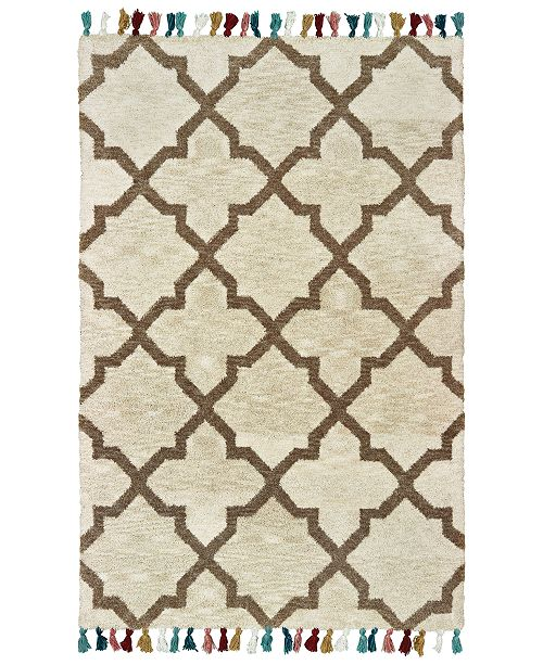 "Oriental Weavers Madison 61405 Ivory/Tan 2'6"" x 8' Runner Area Rug"