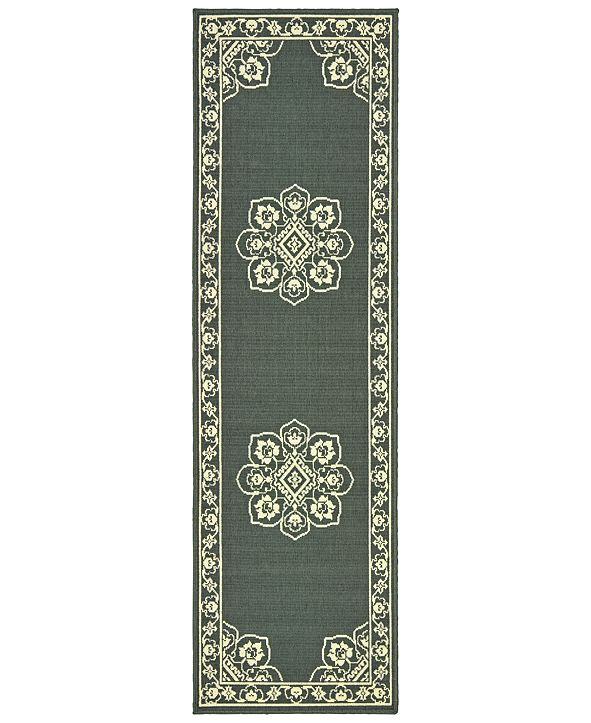 "Oriental Weavers Marina 7764 2'3"" x 7'6"" Indoor/Outdoor Runner Area Rug"