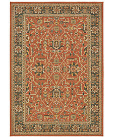 "Oriental Weavers Toscana 9537C Orange/Blue 2'3"" x 7'6"" Runner Area Rug"