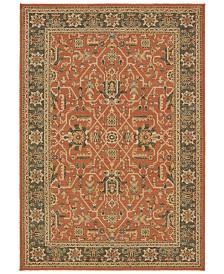 """Oriental Weavers Toscana 9537C Orange/Blue 6'7"""" x 9'6"""" Area Rug"""