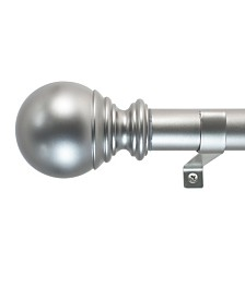 Decopolitan 1-Inch Ball Telescoping Curtain Rod Set, 36 to 72-Inch, Silver