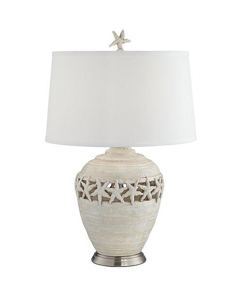 Pacific Coast Starfish Table Lamp White Washed