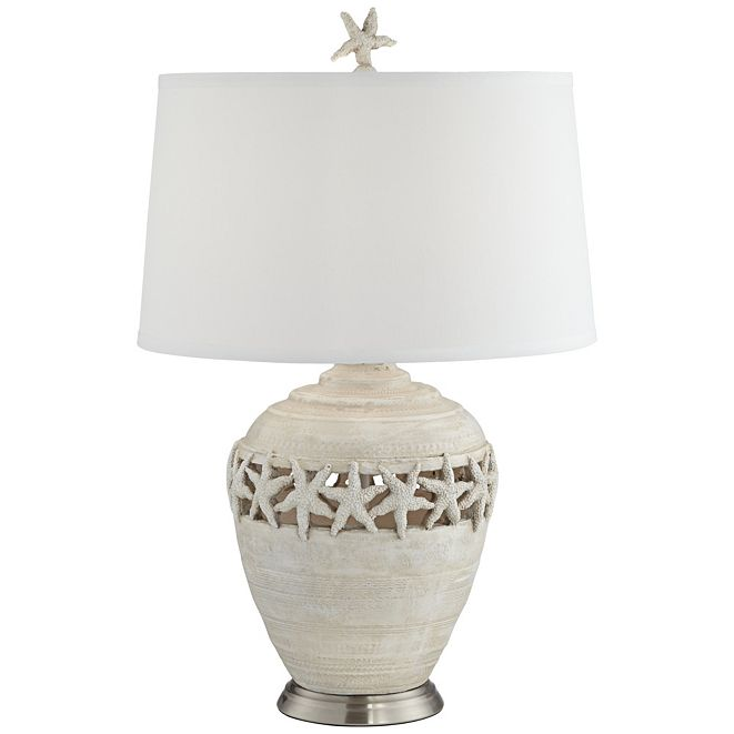 Pacific Coast Starfish Table Lamp White Washed