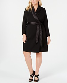 Adrianna Papell Plus Size Tuxedo Dress