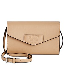 DKNY Sullivan Leather Crossbody Wallet, Created for Macy's