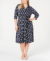 adcb477da6bae5 Charter Club Plus Size Printed Midi Dress