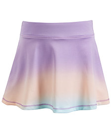 Ideology Little Girls Ombré-Print Skort, Created for Macy's