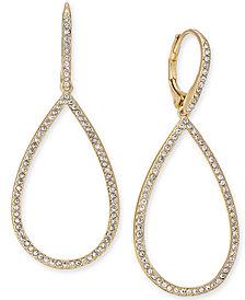 Eliot Danori Pavé Open Drop Earrings, Created for Macy's