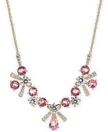 """Eliot Danori Multi-Crystal Flower Statement Necklace, 16"""" + 1"""" extender, Created for Macy's"""
