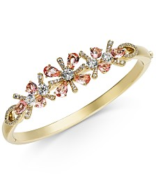Eliot Danori Multi-Crystal Flower Bangle Bracelet, Created for Macy's